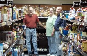 Volunteers pick up food, stock shelves, distribute food and many other duties to feed our hungry.